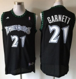 Minnesota Timberwolves #21 Retro Garnett Black Stitched NBA Jersey