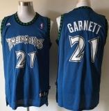 Minnesota Timberwolves #21 Retro Garnett Blue Stitched NBA Jersey