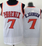 Phoenix Suns #7 K Johnson White New Throwback Stitched NBA Jersey