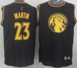 Minnesota Timberwolves #23 Kevin Martin Black Precious Metals Fashion Stitched NBA Jersey