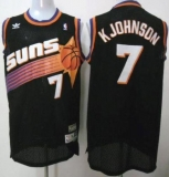 Phoenix Suns #7 Kevin Johnson Black Throwback Stitched NBA Jersey