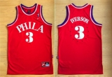 Philadelphia 76ers #3 Allen Iverson Red 1964 Throwback Stitched NBA Jersey