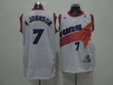 Phoenix Suns #7 Kevin Johnson White Swingman Throwback Stitched NBA Jersey