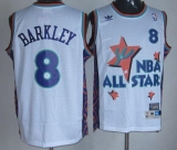 Phoenix Suns #8 Charles Barkley White 1995 All Star Throwback Stitched NBA Jersey