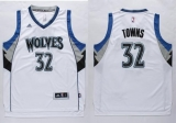 Minnesota Timberwolves #32 Karl-Anthony Towns White Stitched NBA Jersey
