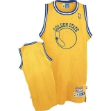 Golden State Warriors Blank Gold Throwback Stitched NBA Jersey