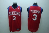 Philadelphia 76ers #3 Allen Iverson Stitched Red NBA Jersey
