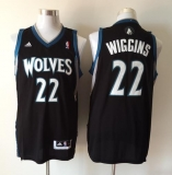 Revolution 30 Minnesota Timberwolves #22 Andrew Wiggins Black Stitched NBA Jersey