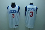Philadelphia 76ers #3 Allen Iverson Stitched White NBA Jersey