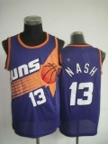 Phoenix Suns #13 Steve Nash Purple Throwback Stitched NBA Jersey