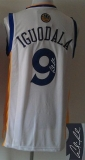 Revolution 30 Autographed Golden State Warriors #9 Andre Iguodala White Stitched NBA Jersey