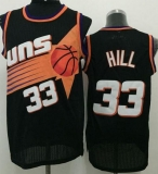 Phoenix Suns #33 Grant Hill Black Throwback Stitched NBA Jersey