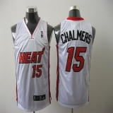 Miami Heat #15 Mario Chalmers White Stitched NBA Jersey