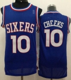 Philadelphia 76ers #10 Maurice Cheeks Blue Throwback Stitched NBA Jersey