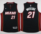 Miami Heat #21 Hassan Whiteside Black Stitched NBA Jersey