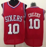 Philadelphia 76ers #10 Maurice Cheeks Red Throwback Stitched NBA Jersey