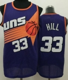 Phoenix Suns #33 Grant Hill Purple Throwback Stitched NBA Jersey