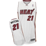 Miami Heat #21 Hassan Whiteside White Stitched NBA Jersey
