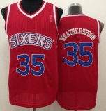 Philadelphia 76ers #35 Clarence Weatherspoon Red Throwback Stitched NBA Jersey