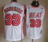 Miami Heat #33 Alonzo Mourning White Throwback Stitched NBA Jersey