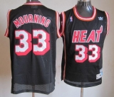 Miami Heat #33 Mourning Black Throwback Stitched NBA Jersey