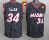 Miami Heat #34 Ray Allen Black Crazy Light Finals Patch Stitched NBA Jersey