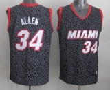 Miami Heat #34 Ray Allen Black Crazy Light Stitched NBA Jersey