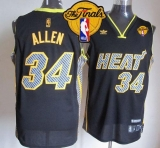 Miami Heat #34 Ray Allen Black Electricity Fashion Finals Patch Stitched NBA Jersey