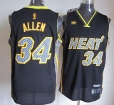 Miami Heat #34 Ray Allen Black Electricity Fashion Stitched NBA Jersey