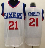Revolution 30 Philadelphia 76ers #21 Joel Embiid White Stitched NBA Jersey