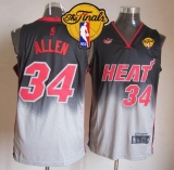 Miami Heat #34 Ray Allen Black Grey Fadeaway Fashion Finals Patch Stitched NBA Jersey