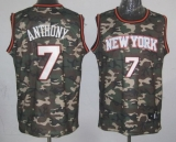 New York Knicks #7 Carmelo Anthony Camo Stealth Collection Stitched NBA Jersey