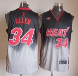 Miami Heat #34 Ray Allen Black Grey Fadeaway Fashion Stitched NBA Jersey