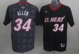 Miami Heat #34 Ray Allen Black New Latin Nights Stitched NBA Jersey