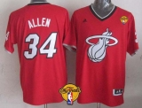 Miami Heat #34 Ray Allen Red 2013 Christmas Day Swingman Finals Patch Stitched NBA Jersey