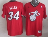Miami Heat #34 Ray Allen Red 2013 Christmas Day Swingman Stitched NBA Jersey