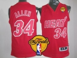 Miami Heat #34 Ray Allen Red Big Color Fashion Finals Patch Stitched NBA Jersey