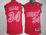 Miami Heat #34 Ray Allen Red Big Color Fashion Stitched NBA Jersey