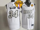Miami Heat #34 Ray Allen White on White Finals Patch Stitched NBA Jersey