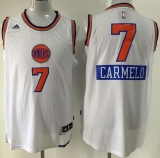 New York Knicks #7 Carmelo Anthony White 2014-15 Christmas Day Stitched NBA Jersey