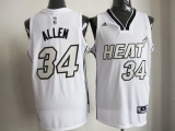 Miami Heat #34 Ray Allen White on White Stitched NBA Jersey