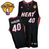 Miami Heat #40 Udonis Haslem Black Finals Patch Stitched NBA Jersey