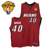 Miami Heat #40 Udonis Haslem Red Finals Patch Stitched NBA Jersey