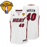 Miami Heat #40 Udonis Haslem White Finals Patch Stitched NBA Jersey
