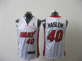 Miami Heat #40 Udonis Haslem White Stitched NBA Jersey
