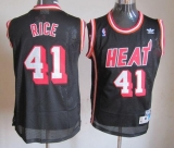 Miami Heat #41 Glen Rice Black Hardwood Classics Nights Stitched NBA Jersey