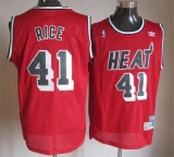 Miami Heat #41 Glen Rice Red Throwback Stitched NBA Jersey