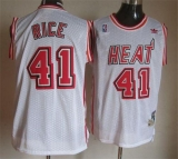 Miami Heat #41 Glen Rice White Throwback Stitched NBA Jersey