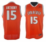 New York Knicks #15 Carmelo Anthony Orange Syracuse College Stitched NBA Jersey