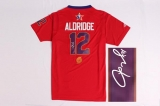 Autographed 2014 NBA All Star Portland Trail Blazers #12 LaMarcus Aldridge Red Jerseys